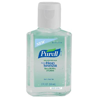 Purell® Instant Hand Sanitizer, 2oz, Squeeze Bottle with Flip Top