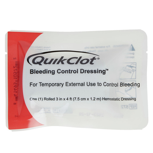 QuikClot Bleeding Control Dressing, Roll (3in x 4ft)