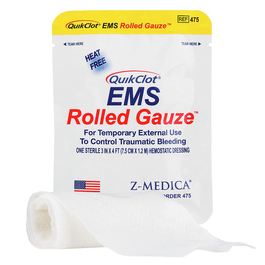 QuikClot® EMS Rolled Gauze, 3in x 4ft