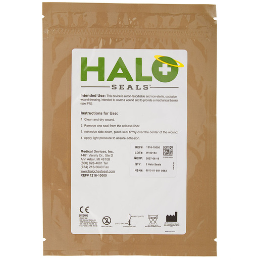 Halo Chest Seal, 2 pack