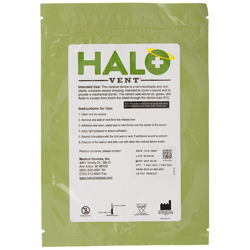 Halo Chest Vent and Seal, 2 pack