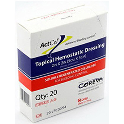 ActCel® Hemostatic Gauze, 2in L x 4in W