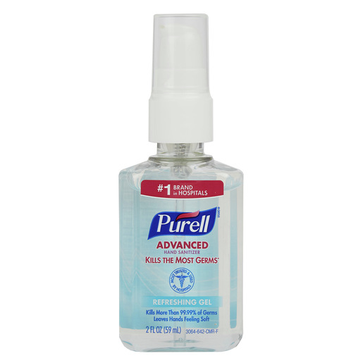 Purell® Instant Hand Sanitizer, 2oz, Personal Pump Bottle