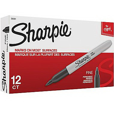 Sharpie® Permanent Marker, 1.5in Diameter x 5.5in L, Black
