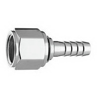 Hex Nut and Nipple, with 1/4in ID Hose Barb, without O-Ring
