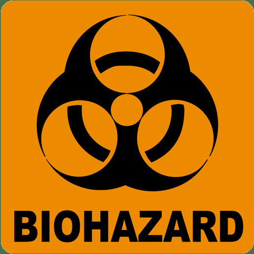 *Discontinued* Bio-hazard and Infectious Waste Labels, 3in H x 3in H, Orange