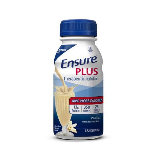 Oral Supplement Ensure® Plus, 8 oz. Container Bottle, Vanilla Flavor