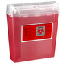 Wallsafe Sharps Container, 5qt, Red