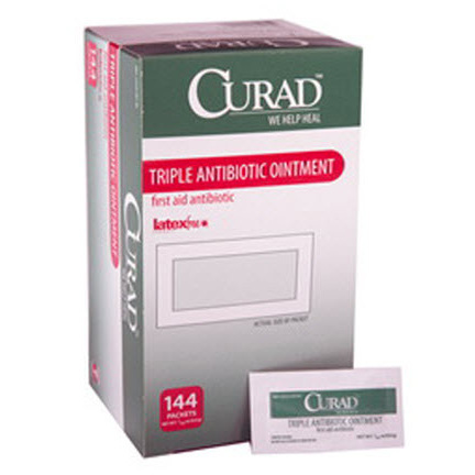 Curad® Triple Antibiotic Ointment, 0.9g