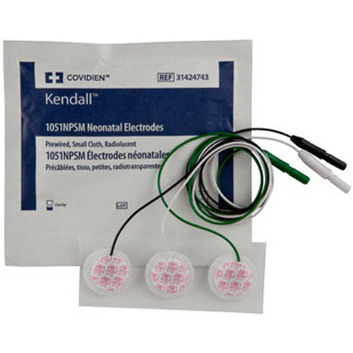 Kendall™ Kittycat® 1051NPSM Cloth Electrodes, Neonatal/Pediatric, 2.5cm Size