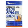 Rolled Finger Cots, Medium, Bright Blue
