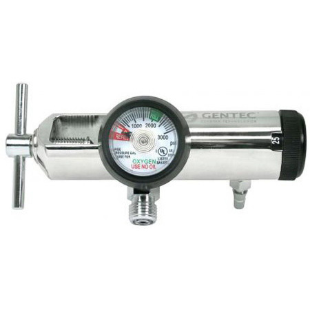 Oxygen Regulator, CGA 870 Standard, 0 to 25lpm, with Hose Barb and 2 DISS