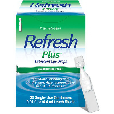 Refresh Plus® 0.5% Lubricant Eye Drops, 4mL Unit Dose
