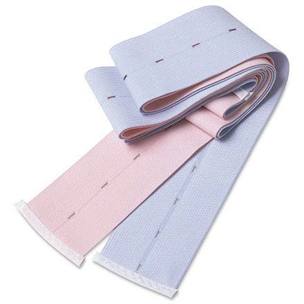 Abdominal Transducer Belt, Pink and Blue, 2 3/8in x 48in