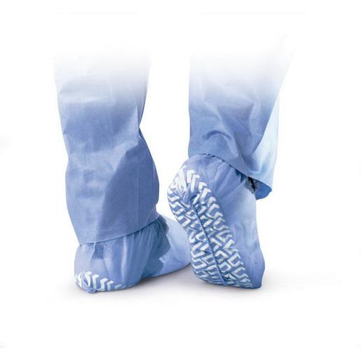 Non-skid Polypropylene Shoe Cover, Blue, Regular/Large