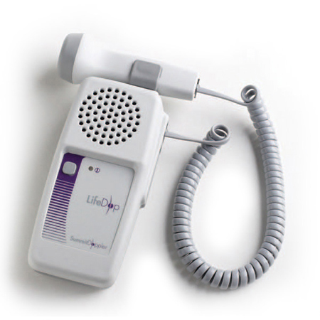Summit LifeDop 150 Series Hand-Held Doppler with 3MHz Obstetrical Probe, 35mm L x 70mm W x 140mm D