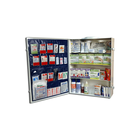 Cabinet, Large, 22in x 16-3/4in x 5-3/4in, Metal, 4 Shelf