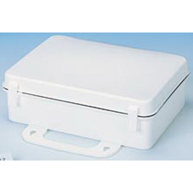 First Aid Kit, 10in x 7in x 3in, White, Polypropylene Plastic