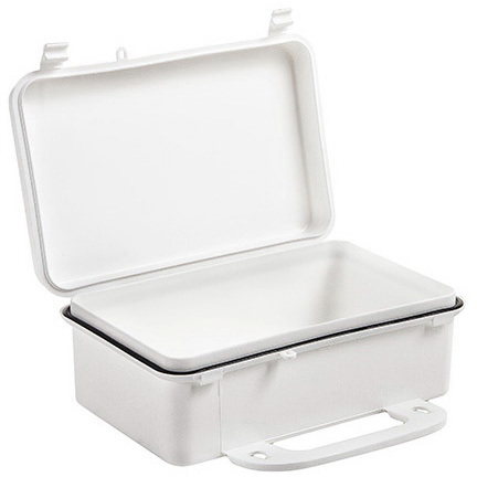 First Aid Kit, 8-7/16in x 2-3/8in x 4-3/4in, White, Polypropylene Plastic