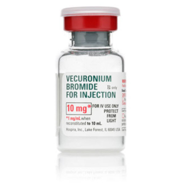 Box Quantity* Vecuronium Bromide for Injection, 10mg, 10ml Vial   Bound Tree