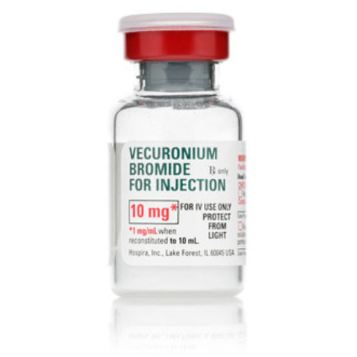 *Box Quantity* Vecuronium Bromide for Injection, 10mg, 10ml Vial