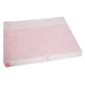 GE Medical E9001E Premium ECG/EKG Recording Chart Paper, 214mm x 280mm, Red Grid, Blank Header