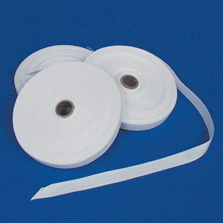 Cotton Twill Tape, White, 36yd L x 3/8in W