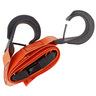 Curaplex® Vinyl Coated Poly Cinch Hook Dual BioStrap, Orange