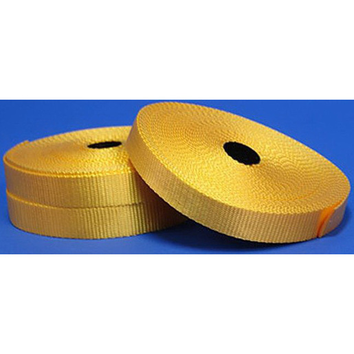 Nylon Flat Webbing, 14yd L x 1in W, Yellow