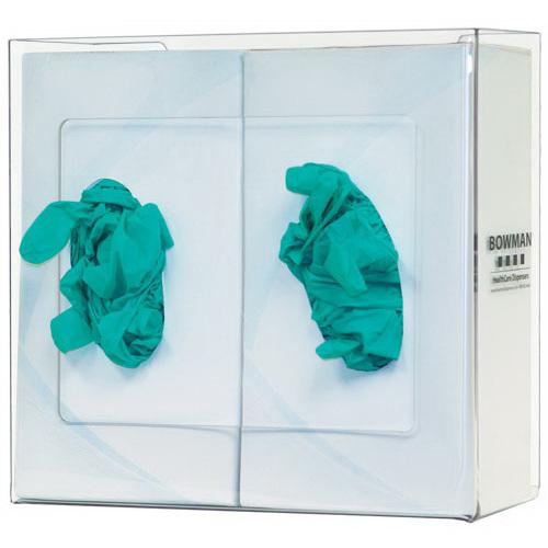 Glove Box Dispenser, 10.10 H x 10.7 W x 3.9in D, Clear, PETG Plastic