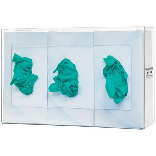 Glove Box Dispenser, 10.10 H x 15.9 W x 3.9in D, Clear, PETG Plastic
