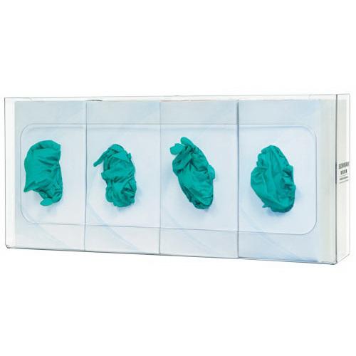Glove Box Dispenser, 10.03 H x 22.45 W x 3.8in D, Clear, PETG Plastic