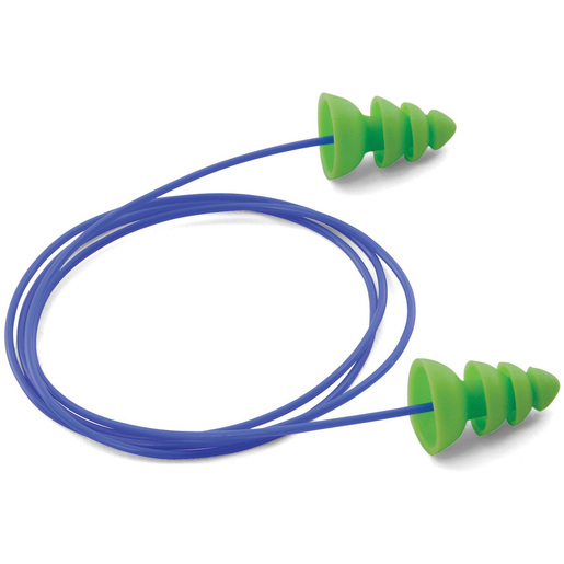 Moldex Comets Corded EarPlug, Bright Green, 25dB