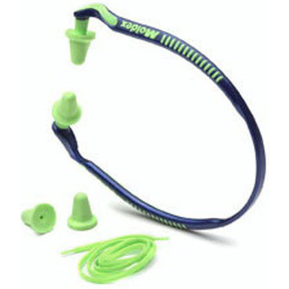 Moldex Jazz Band Hearing Protector with Canal Cap, Bright Green, 25dB