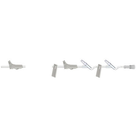 Burette Set with (2) MicroClave® Clear Needle-Free Y-sites, 106in