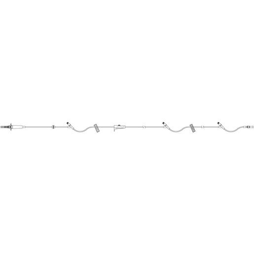 Primary IV Piggyback Set with (3) Clave™ Y-sites, 15 Drop, 100in L
