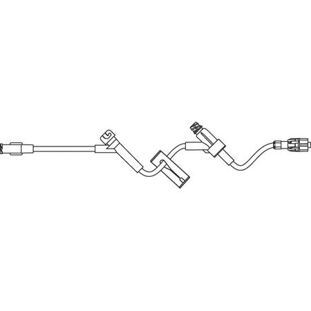Standard Bore IV Extension Set, 1.6mL Priming Volume, 9in L