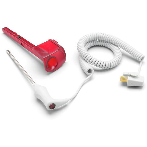 Rectal Temperature Probe and Well Assembly, 4ft Cord, Red *Non-Returnable and Non-Cancelable*