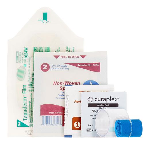 Curaplex® IV Start Kit, incl Tegaderm IV Dressing, Clear Tape, Alcohol Prep Pads, Gauze Sponge, Tourniquet