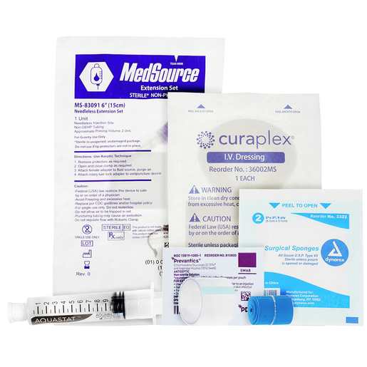 Curaplex® IV Start Kit with IV Guard
