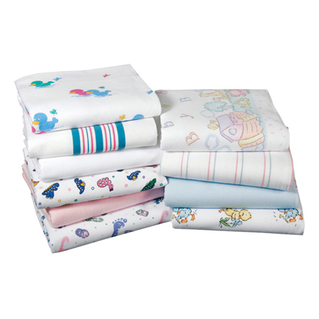 Kuddle-Up Flannel Baby Blanket, White, 40in L x 30in W