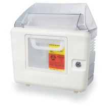 Sharps Collector Locking Wall Enclosure, 5.4qt