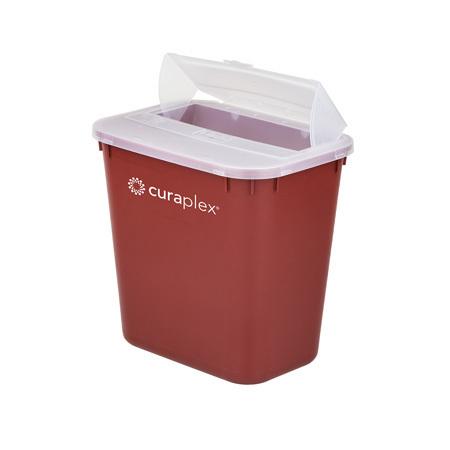 Curaplex® Sharps Container, Dome, 8 Quart, 10in L x 7in W x 9.5in H