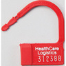 Numbered Heavy Duty Padlock Seal, 1-1/2in H x 1in W, Red, Polypropylene
