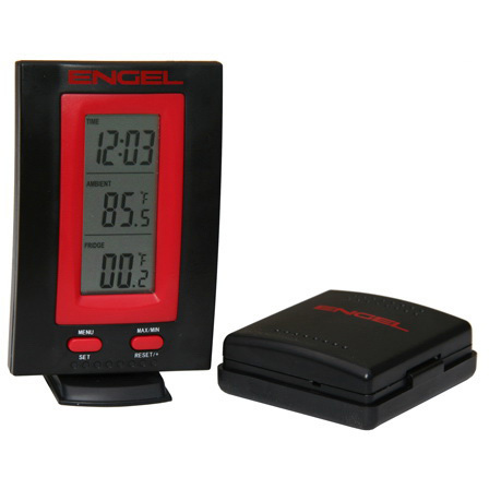 Wireless Fridge Thermometer & Clock, Up to 100 Yards Range
