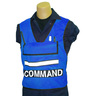 Custom ICS Vest with Scotchlite™ Stripes COMMAND Printed, Blue