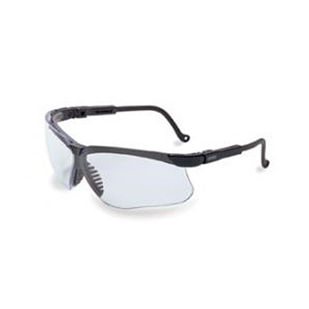 Uvex™ Genesis Eyewear, Clear Lens, Black Frame *Non-Returnable and Non-Cancelable*
