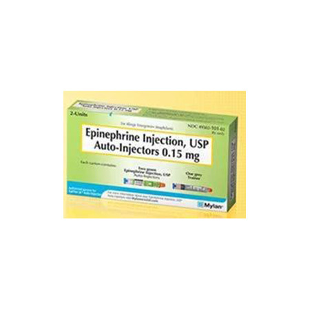 Epinephrine Junior Auto-injector, 0.15mg, 0.3mL *Non-Returnable and Non-Cancelable*