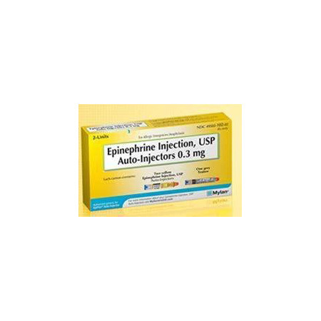 Epinephrine Adult 2-Pack Autoinjector 0.3mg, 0.3ml *Non-Returnable*
