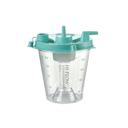Hi-Flow™ Suction Canister with Aerostat Filter and Float Valve Shutoff, 800cc